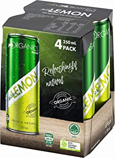 ORGANICS by Red Bull Bitter Lemon, 4 Pack of 250 ml