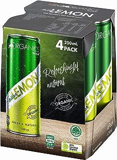 ORGANICS by Red Bull Bitter Lemon, 4 Pack of 250 ml