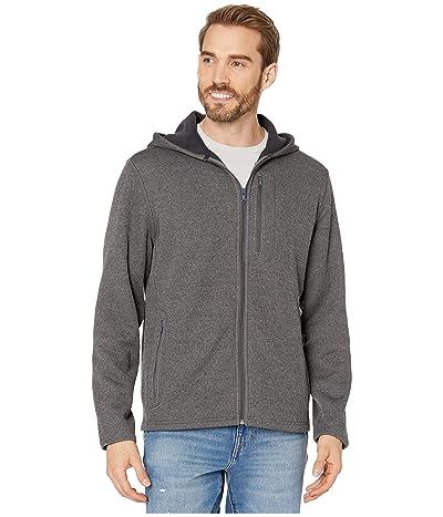 Vineyard Vines Mountain Sweater Fleece Hoodie (Charcoal Heather) Men