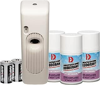 Big D 854 Metered Aerosol Starter Kit, French Buttercreme Fragrance (Contains Dispenser, 2 Batteries, 3 Aerosol Cans) - Air freshener ideal for restrooms, offices, schools, restaurants, hotels