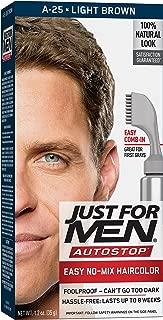 Just For Men AutoStop Men's Hair Color, Light Brown , 1.2 ounce