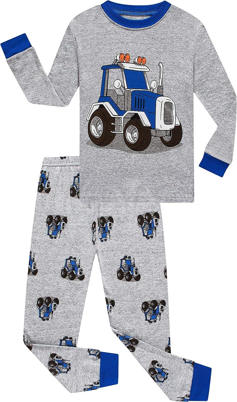 Benaive Pajamas for Boys, Pjs for Boy Cotton Pajama, 2-Piece Children Pants Set