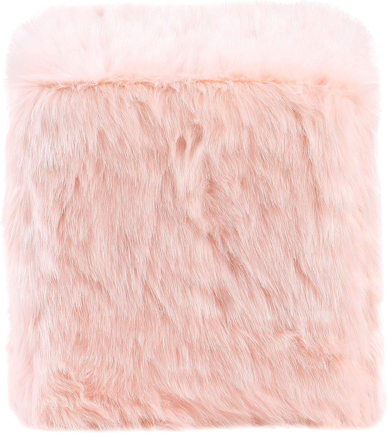 HomePop Bombing new work Faux Fur Pink Ottoman Max 83% OFF Poof