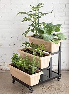Superior Trading Co. STC-1891 Three Tier Urban Garden Planter Bed Raised Planter, Black, Size 26