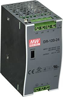 MEAN WELL DR-120-24 AC to DC DIN-Rail Power Supply, 24V, 5 Amp, 120W, 1.5