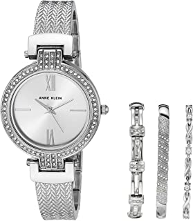 Women's Swarovski Crystal Accented Watch and Bracelet Set, AK/3584