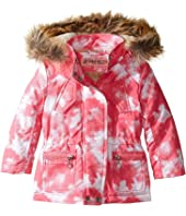 Urban Republic Kids - Peach-Finish Microfiber Jacket w/ Detachable Faux Fur Hood (Toddler)
