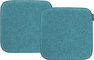 Magma-Heimtex Avaro - Cojín para silla (fieltro, 2 unidades, cuadrado, 35 x 35 cm), color verde
