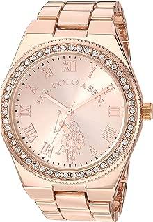 U.S. Polo Assn. - Reloj de cuarzo y aleación de metal para mujer, color: plateado (modelo: USC40225)