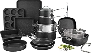 Granite Stone Pots and Pans Set, 20 Piece Complete Cookware + Bakeware Set with Ultra Nonstick 100% PFOA Free Coating–Incl...