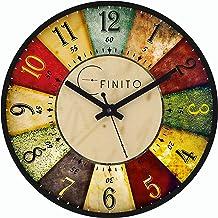 EFINITO Plastic Roulette Wall Clock (Black_32 x 6 x 32 cm)