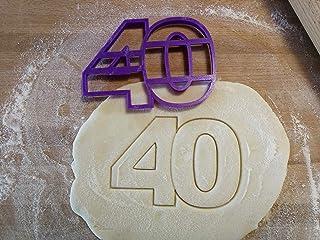 Taglia biscotti numero del compleanno. Personalizzabile. Vari numeri disponibili o fatti su richiesta