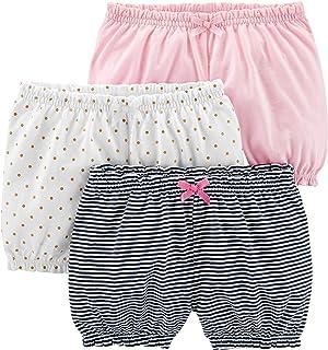 Baby Girls' 3-Pack Bloomer Shorts