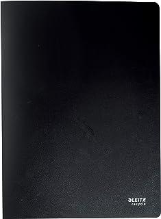 Leitz A4 Reliure Protège-Documents, 20 Pochettes Plastifiées Fixes Incluses, Capacité 40 Feuilles, 100% Recyclable, Écolog...