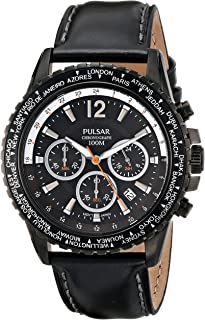 Men's PT3585 Analog Display Japanese Quartz Black Watch