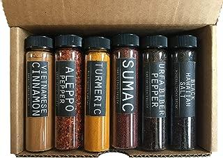 Foodie Spice Gift Set by Crimson and Clove - Includes Aleppo pepper, Vietnamese cinnamon, sumac, Urfa Biber, cardamom, black Hawaiian salt, red Hawaiian salt and more!