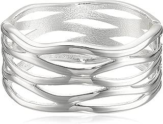 Women's Cut Out Hinge Bangle Bracelet