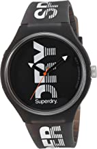 Superdry Unisex SYG189B Urban XL Sport Analog Display Quartz Black Watch