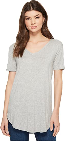 American Rose - Gianna V-Neck Short Sleeve Top