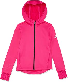 adidas Girls' Training Full Zip Hooded Jacket