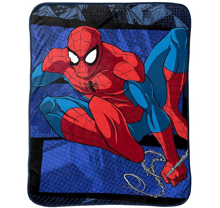 Marvel Spiderman Burst Plush Throw, 46