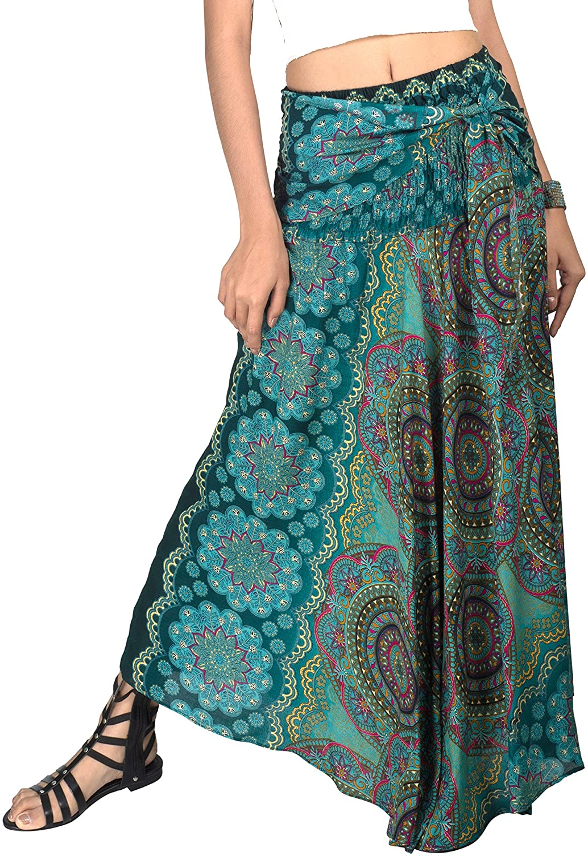 Joob Joob Long Boho Skirt or Midi Dress - Maxi Skirt for Women - Long Wrap Skirt for Summer - Women's Beach Cover Up