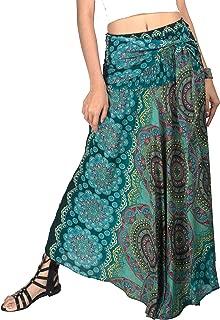 2 in 1 Boho Long Maxi Skirt Midi Dress Bohemian Loose Flowing Summer Travel Hippie Yogi Festival Casual Skirt