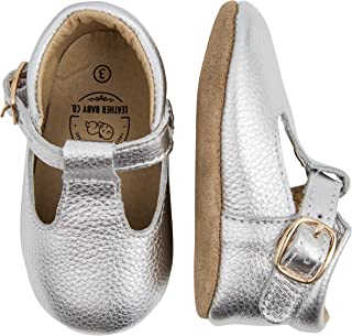 Leather Baby Co Baby-Girls Mary Jane 3 Silver