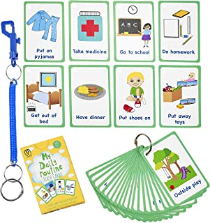 | Visual Routine Learning Cards for Kindergarten Classroom Decoration Family Member flashcards for Toddlers 22 pcs Teacher//Autism Therapists Tools Perfect for Pre-K Decor Background Wall Stickers