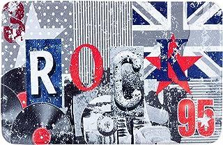grau Eurofirany Badematte Rock Bedruckt 90 x 60 x 3 cm Stoff 60x90