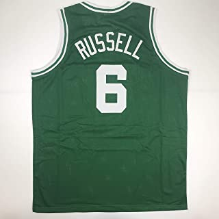 Unsigned Bill Russell Boston Green Custom Stitched Basketball Jersey Size Men's XL New No Brands/Logos