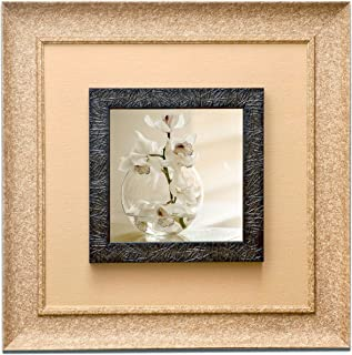 Wens 'White Orchid' Wall Art Painting (PS Wood, 41 cm x 41 cm x 3.75 cm)