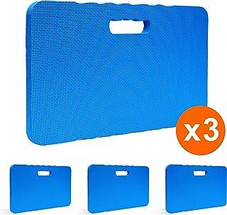 "Gardzen 3-Pack Garden Kneeling Pad - for Gardening, Baby Bath, Yoga, Pilates, Exercise, 18""x11""x1"", Blue"
