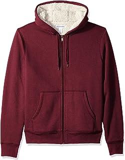 Amazon Essentials Sherpa Lined Full-Zip Hooded Fleece Sweatshirt Uomo