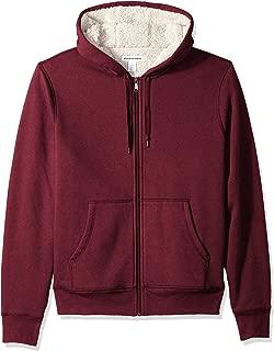 Men's Sherpa Lined Full-Zip Hooded Fleece Sweatshirt