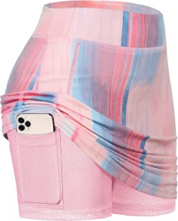 Sponsored Ad - BLEVONH Women Tennis Skirts Inner Shorts Elastic Sports Golf Skorts with Pockets
