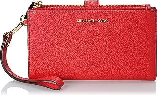حقيبة صغيرة ذات سحَّابين تُعلَّق على المعصم للنساء من مايكل كروس، لون احمر فاتح - طراز 34F9GAFW4L
