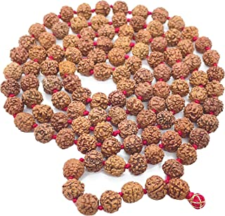 Saubhagya Global Rudraksha Jaap Mala for Pooja (Astrology) (108+1 Beads) Lab Certified