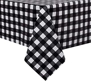 sancua Checkered Vinyl Rectangle Tablecloth - 60 x 140 Inch - 100% Waterproof Oil Spill Proof PVC Table Cloth, Wipe Clean ...