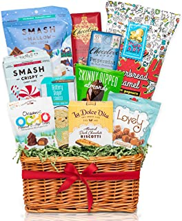 Bunny James Healthy Holiday Gourmet Christmas Gift Basket & Care Package