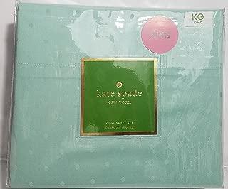 Kate Spade Larabee Dot KING Sheet Set, Aqua