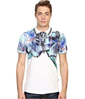 Just Cavalli - Tropical Ikat Print Short Sleeve Polo