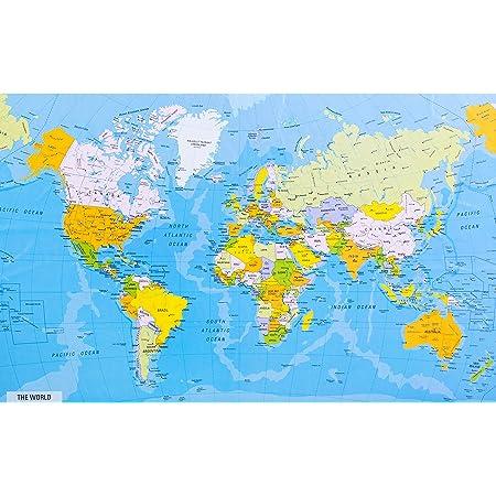 Cartina Politica Mondo 2017.Mappa Politica Del Mondo Amazon It Cancelleria E Prodotti Per Ufficio