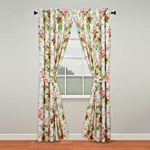 """WAVERLY Curtains for Bedroom - Emma's Garden 100"""" x 84"""" Decorative Double Panel Rod Pocket Window Treatment Privacy Curtai..."""