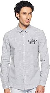 Lee X-Line Men's Checkered Slim fit Casual Shirt