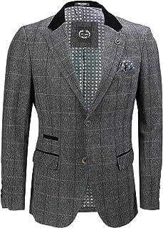 Mens Grey Herringbone Check 3 Piece Suit Sold Separate Blazer Trouser Waistcoat