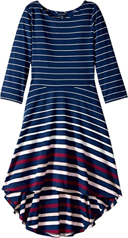 Tommy Hilfiger Kids - Y/D Lurex Engineer Stripe Dress (Big Kids)