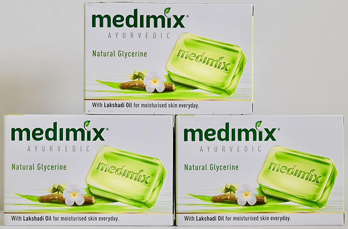 子供達がっかりしたオフェンスMEDIMIX メディミックス アーユルヴェディック ナチュラルグリセリン 3個入り  125g