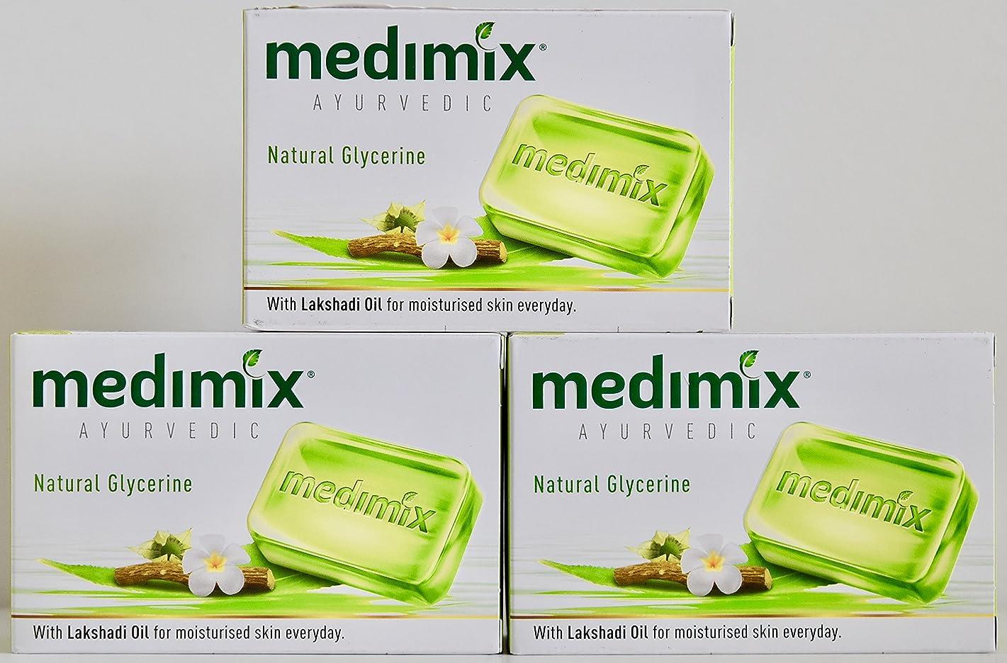 嫌な推定私達MEDIMIX メディミックス アーユルヴェディック ナチュラルグリセリン 3個入り  125g