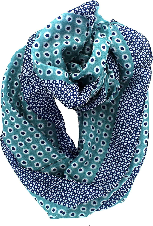 Z&HTrends Womens Genuine Silk Pattern Scarf Infinity